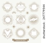vector set of line design... | Shutterstock .eps vector #247779544