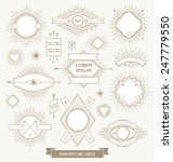 vector set of line design... | Shutterstock .eps vector #247779550