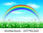 grass background with rainbow | Shutterstock .eps vector #247781263