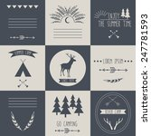 set of vintage camping and... | Shutterstock .eps vector #247781593