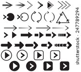 black arrow set | Shutterstock .eps vector #247789294