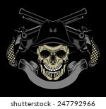 illustration of pirate skull... | Shutterstock .eps vector #247792966