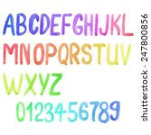 Colorful Watercolor Font ...