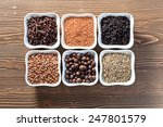 spices in small ceramic cups on ... | Shutterstock . vector #247801579