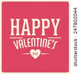 typographic valentines day... | Shutterstock .eps vector #247802044