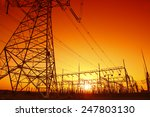 the power supply facilities of... | Shutterstock . vector #247803130