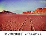 Tower mountains, Akabat desert, Africa, Egypt. Filtered image - stock photo