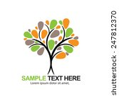 colorful tree icon. vector | Shutterstock .eps vector #247812370