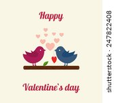 lovers and happy birds with... | Shutterstock .eps vector #247822408