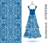 vector fashion illustration ... | Shutterstock .eps vector #247829308