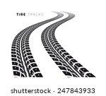 tire tracks | Shutterstock .eps vector #247843933