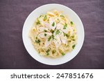 pasta fettuccine alfredo with...   Shutterstock . vector #247851676