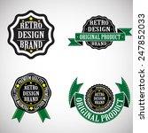vintage insignias . vector... | Shutterstock .eps vector #247852033