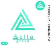 delta letter logo template  2d... | Shutterstock .eps vector #247856638