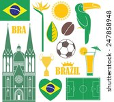 brazill set. isolated sights on ... | Shutterstock .eps vector #247858948