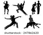 dance silhouettes   Shutterstock .eps vector #247862620