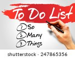 so many things in to do list ... | Shutterstock . vector #247865356