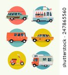 set of vector modern web icons... | Shutterstock .eps vector #247865560