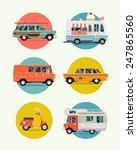 set of vector modern web icons... | Shutterstock .eps vector #247865560