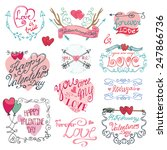 valentine s day wedding love... | Shutterstock .eps vector #247866736