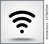 wireless sign icon  vector... | Shutterstock .eps vector #247869268