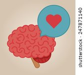 brain concept illustration  love | Shutterstock .eps vector #247871140