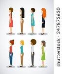 people design over white... | Shutterstock .eps vector #247873630