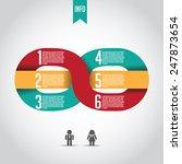 infinity infographic template... | Shutterstock .eps vector #247873654