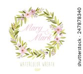 vector watercolor colorful... | Shutterstock .eps vector #247878340