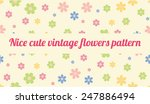 seamless vintage flowers floral ... | Shutterstock .eps vector #247886494
