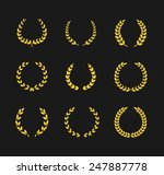 golden laurel wreaths  | Shutterstock .eps vector #247887778
