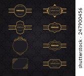 vector set of vintage labels | Shutterstock .eps vector #247900456