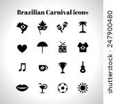 set of 16 brazilian carnival... | Shutterstock .eps vector #247900480