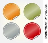 sticker set  colored blank... | Shutterstock .eps vector #247902058