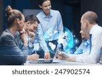 global business  technology ... | Shutterstock . vector #247902574