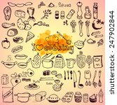 set of hand drawn cooking...   Shutterstock .eps vector #247902844