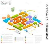 flat business maze infographic... | Shutterstock .eps vector #247903270