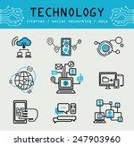 technology  social networking ... | Shutterstock .eps vector #247903960