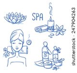 icon item set wellness  spa ... | Shutterstock .eps vector #247904263