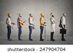 different jobs  | Shutterstock . vector #247904704