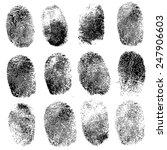 set of fingerprints  vector...   Shutterstock .eps vector #247906603
