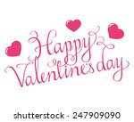 swirly happy valentine script... | Shutterstock .eps vector #247909090