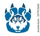 husky claw   Shutterstock .eps vector #247915663