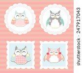 little owls vector | Shutterstock .eps vector #247917043