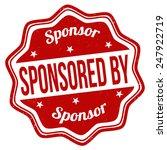 sponsored by grunge rubber...   Shutterstock .eps vector #247922719