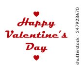 happy valentine's day card | Shutterstock .eps vector #247923670
