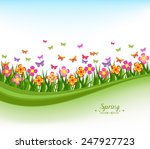 natural banner with flowes and...   Shutterstock . vector #247927723