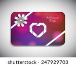 gift card of valentine's day... | Shutterstock .eps vector #247929703