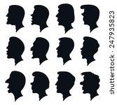 vector black profile heads ... | Shutterstock .eps vector #247935823