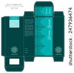 box design  die stamping.... | Shutterstock .eps vector #247936474